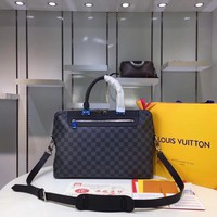 Kuyou Lv Louis Vuitton Fashion Women Men Gb2966 N48260 Damier Graphite Canvas Bags Business Bags Porte-documents Jour 37*28*6cm