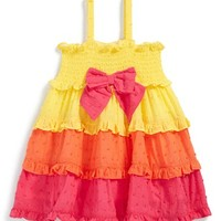 Infant Girl's Little Me Colorblock Ruffle Sundress
