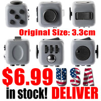 in stock Fidget Cube Original Puzzle Toys Gift for Girl Boys Christmas Gift Magic Puzzle Game Toys Cube USA Delivery