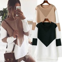 Knit Dress Winter Hollow Out Sweater [11889637967]
