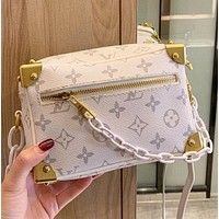 LV New fashion monogram print leather shoulder bag crossbody bag White