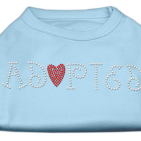 Mirage Pet Dog Cat Indoor Oudoor Polyester Apparel Gift Travel Accessories Adopted Rhinestone Shirt Baby Blue XL (16)