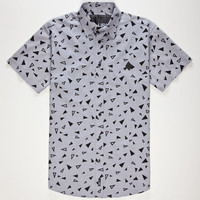 Lira Scattered Mens Shirt Blue  In Sizes