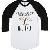 The Tree (baseball Shirt)-Unisex White/Black T-Shirt