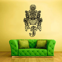 Wall Vinyl Sticker Decals Decor Art Bedroom Design Mural Ganesh Om Elephant Lord Menhdi Mandala Hindu Success Buddha India (z1965)