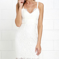 Sweet Blossom Ivory Lace Midi Dress