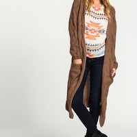 Cable Knit Maxi Cardigan