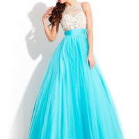 High Neck With Sheer Back Formal Prom Dress By Rachel Allan 6869