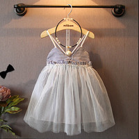 New Girls' Cotton Striped Dresses Girl Baby high Quality clothes Casual baby summer dress 2-6 years toddler girls clothes