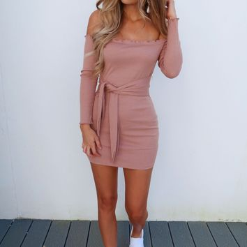 Caught Up In You Dress: Mauve
