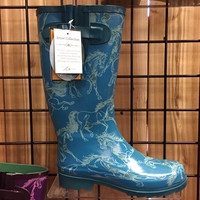Smokey Rain Boots for Ladies Purple, Gray or Turquoise