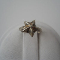 Sterling Silver 925 Star Small Toe Ring Size .25 Adjustable Unmarked