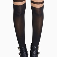 Ballerina Lace Up Tights
