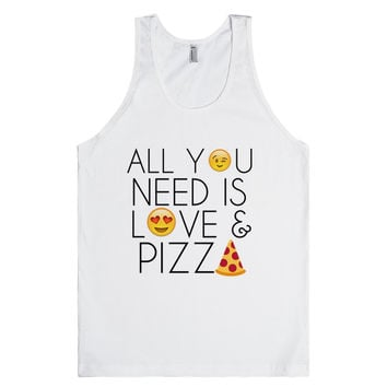 ALL YOU NEED IS LOVE AND PIZZA EMOJI