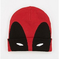 Deadpool Cuff Beanie Hat - Spencer's