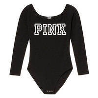 Off-Shoulder Bodysuit - PINK - Victoria's Secret