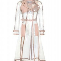 mytheresa.com -  Valentino - TRANSPARENT ROCKSTUD TRENCH COAT - Luxury Fashion for Women / Designer clothing, shoes, bags