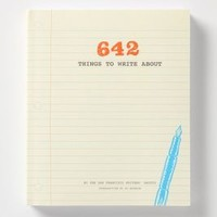 642 Things To Write About by Anthropologie in Yellow Size: One Size Books