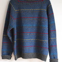 Blue Striped Sweater for Men and Women by McGregor XLarge