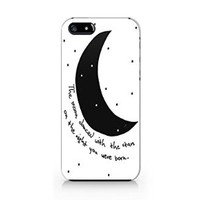 """""""The Moon Danced With The Stars On The Night You Were Born"""" Plastic Phone Case for Iphone 5 5s ^_^ Yurishop"""