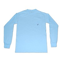 Long Sleeve Pocket Tee - Skyway Blue