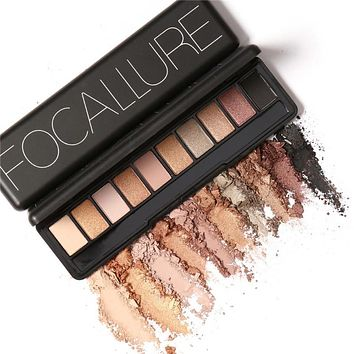 Focallure 10 Colors Naked Eye Shadow Palette Eyeshadow Shadow Shade for Eyebrows Makeup Set Nude Eyeshadow Palette Maquiagem
