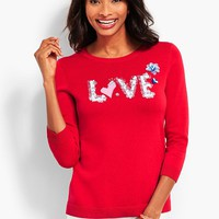 Hand-Sewn Sequined Sweater   Talbots