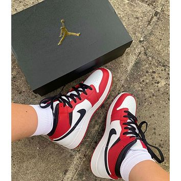 Fashion Red/White Sneakers Basketball Shoes
