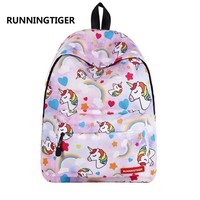 Girls bookbag Unicorn Printing Teenage School Bags and Shoulder Travel Backpack Beach Weekend Bag Laptop Bag Daypack For Boys& AT_52_3