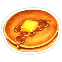 'Pancakes Pattern - Blue' Sticker by Kelly Gilleran
