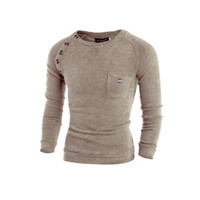 Mens Slim Casual Long Sleeve Shirt