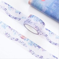 25mmX7m watercolor Sheet music paper tape scrapbook DIY washi tape decoration tape masking tape office Stationery sticker gifts