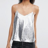 ASOS Sequin Cami Top at asos.com