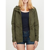 Anorak Jacket with Hood and Drawstring Waist (CLEARANCE)