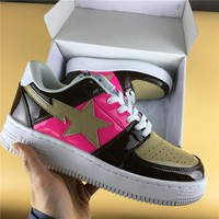 Foot Soldier BAPE STA Coffee-Pink Star Sneaker Shoe 36-45