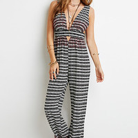 Embroidered Tribal Print Jumpsuit