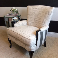 Chic, French inspired wingback chair