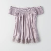 AEO Soft & Sexy Off-The-Shoulder Top , Purple