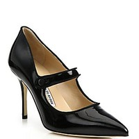 Manolo Blahnik - Andena Strappy Patent Leather Sandals