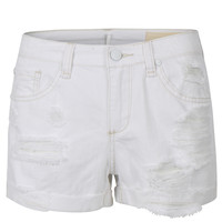 LE3NO Womens Casual High Waisted Distressed Cutoff Denim Shorts (CLEARANCE)