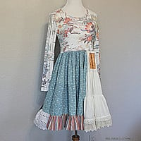 Upcycled Fashion / Boho Women's Junior's Dress / Unique Ragdoll Dress / Tattered Clothes / Recycled Repurposed Refashioned Clothing / Medium