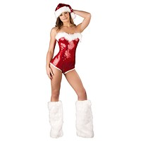 Sexy Sequins Pin Up Christmas Girl Romper