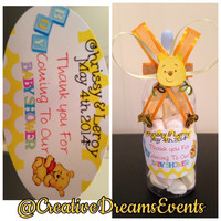 Winnie The Pooh Baby Shower Bottle Favors