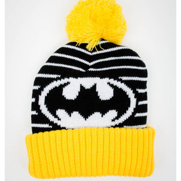 Batman Stripes Pom Beanie