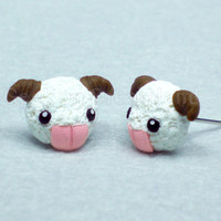 Poro earrings studs kawaii LOL League Of Legends