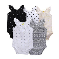 Newborn Sleeveless O-Neck Vest Type Baby Clothing Rompers