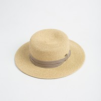 Kiana Striped Band Straw Hat