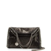 Stella McCartney Falabella Tiny Shoulder Bag, Dark Gray