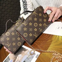 Small Women Leather Chain Bag Clutch