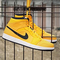 Jordan 1 generation two-layer rhubarb men and women shoes basketball shoes